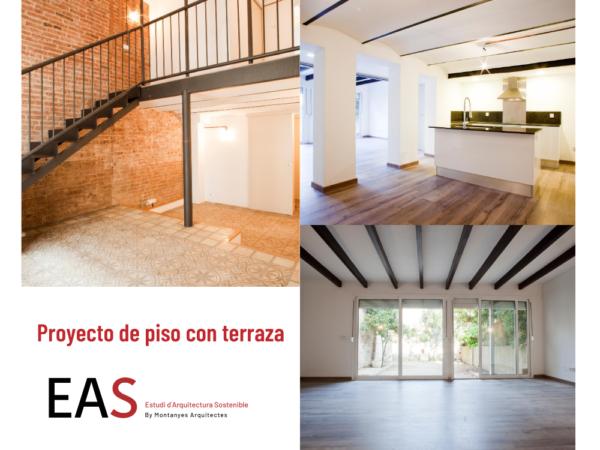 Proyecto de piso con terraza